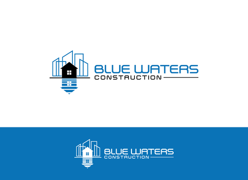 Blue Waters Construction A Logo, Monogram, or Icon  Draft # 552 by juindhar