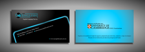 My English Coach Business Cards and Stationery  Draft # 319 by galihWc85