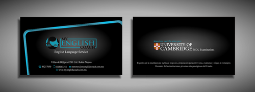 My English Coach Business Cards and Stationery  Draft # 320 by galihWc85