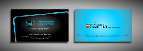 My English Coach Business Cards and Stationery  Draft # 321 by galihWc85