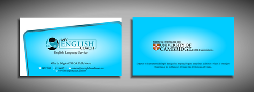 My English Coach Business Cards and Stationery  Draft # 322 by galihWc85