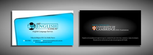 My English Coach Business Cards and Stationery  Draft # 323 by galihWc85