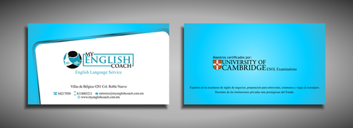 My English Coach Business Cards and Stationery  Draft # 324 by galihWc85