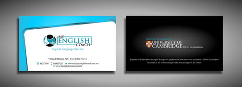 My English Coach Business Cards and Stationery  Draft # 325 by galihWc85