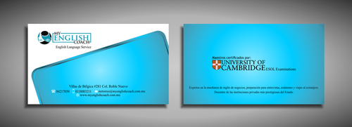 My English Coach Business Cards and Stationery  Draft # 326 by galihWc85