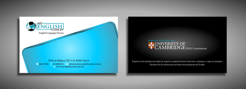 My English Coach Business Cards and Stationery  Draft # 327 by galihWc85