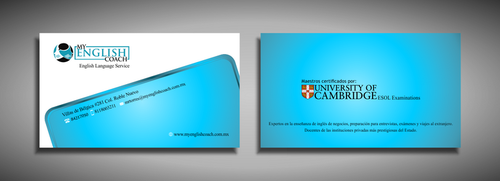 My English Coach Business Cards and Stationery  Draft # 328 by galihWc85