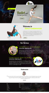 Dance FUNdamentals Complete Web Design Solution  Draft # 1 by EXPartLogo