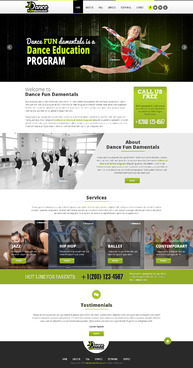 Dance FUNdamentals Complete Web Design Solution  Draft # 2 by EXPartLogo