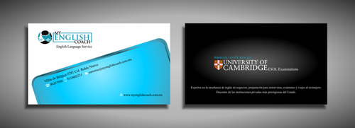 My English Coach Business Cards and Stationery  Draft # 329 by galihWc85