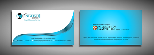 My English Coach Business Cards and Stationery  Draft # 330 by galihWc85