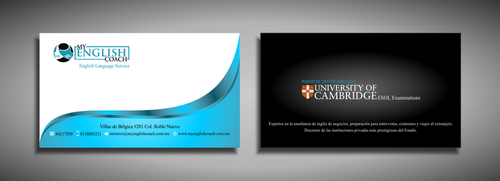 My English Coach Business Cards and Stationery  Draft # 331 by galihWc85