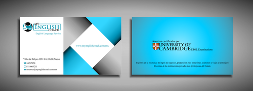 My English Coach Business Cards and Stationery  Draft # 336 by galihWc85