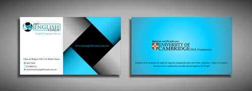 My English Coach Business Cards and Stationery  Draft # 339 by galihWc85