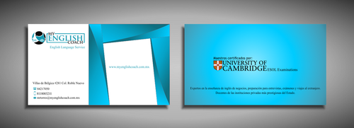 My English Coach Business Cards and Stationery  Draft # 340 by galihWc85