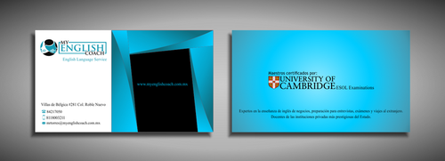 My English Coach Business Cards and Stationery  Draft # 342 by galihWc85