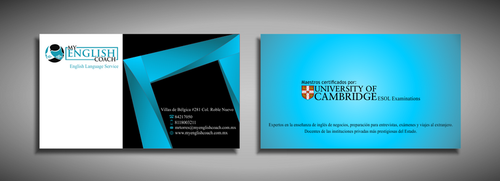 My English Coach Business Cards and Stationery  Draft # 344 by galihWc85