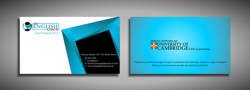 My English Coach Business Cards and Stationery  Draft # 346 by galihWc85