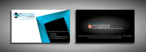 My English Coach Business Cards and Stationery  Draft # 347 by galihWc85