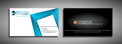 My English Coach Business Cards and Stationery  Draft # 349 by galihWc85