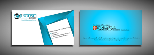My English Coach Business Cards and Stationery  Draft # 358 by galihWc85
