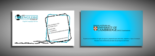 My English Coach Business Cards and Stationery  Draft # 389 by galihWc85