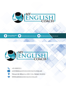 My English Coach Business Cards and Stationery  Draft # 391 by DazedUA