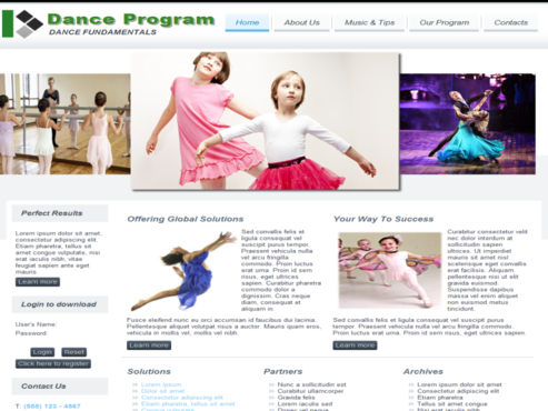 Dance FUNdamentals Complete Web Design Solution  Draft # 79 by design2host