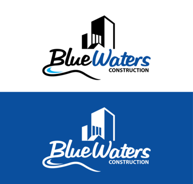 Blue Waters Construction A Logo, Monogram, or Icon  Draft # 635 by ThinkTwice