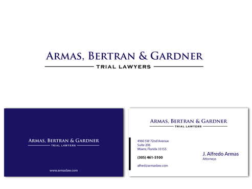 "phrase ""Trial Lawyers"" should appear Business Cards and Stationery  Draft # 2 by dejavu69"