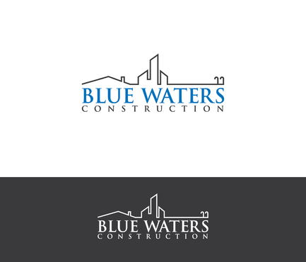 Blue Waters Construction A Logo, Monogram, or Icon  Draft # 764 by nesgraphix
