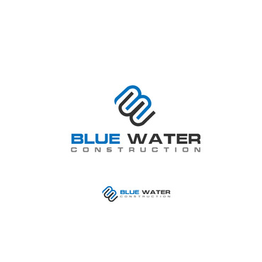 Blue Waters Construction A Logo, Monogram, or Icon  Draft # 776 by creativeluke