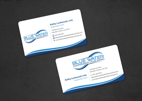 Blue Water Leadership Coaching Business Cards and Stationery  Draft # 11 by einsanimation