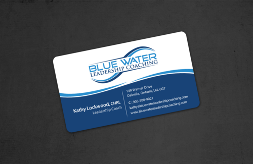 Blue Water Leadership Coaching Business Cards and Stationery  Draft # 17 by einsanimation