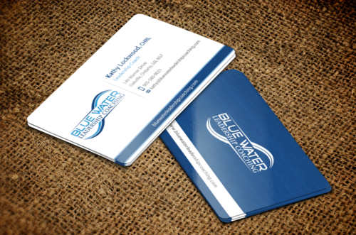 Blue Water Leadership Coaching Business Cards and Stationery  Draft # 55 by einsanimation