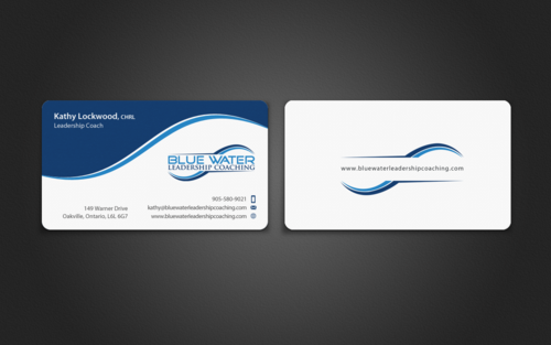 Blue Water Leadership Coaching Business Cards and Stationery  Draft # 92 by einsanimation