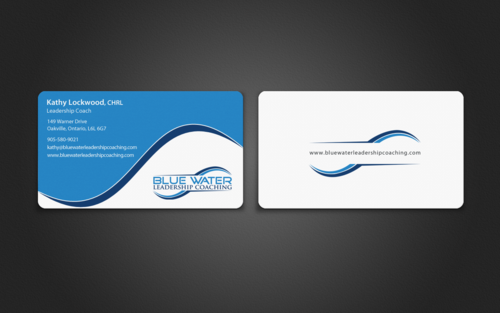 Blue Water Leadership Coaching Business Cards and Stationery  Draft # 96 by einsanimation