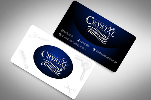CRYSTAL BARBER SHOP Business Cards and Stationery  Draft # 79 by rasix