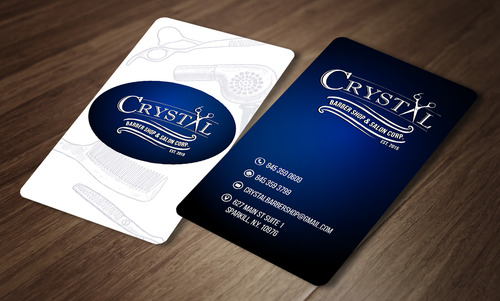 CRYSTAL BARBER SHOP Business Cards and Stationery  Draft # 80 by rasix