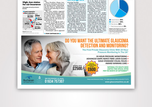 National Newspaper ad for national eye health week Marketing collateral  Draft # 31 by erobepro