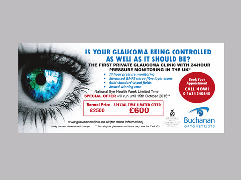 National Newspaper ad for national eye health week Marketing collateral  Draft # 45 by Mariposa
