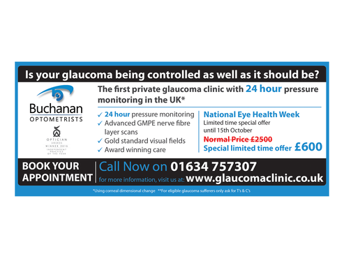 National Newspaper ad for national eye health week Marketing collateral  Draft # 67 by monski