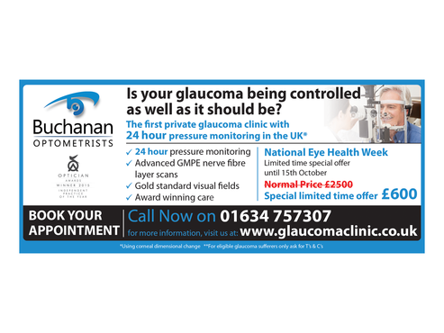 National Newspaper ad for national eye health week Marketing collateral  Draft # 68 by monski