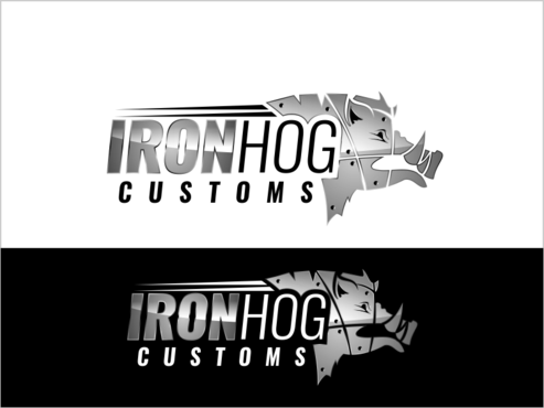Iron Hog Customs A Logo, Monogram, or Icon  Draft # 7 by thebullet