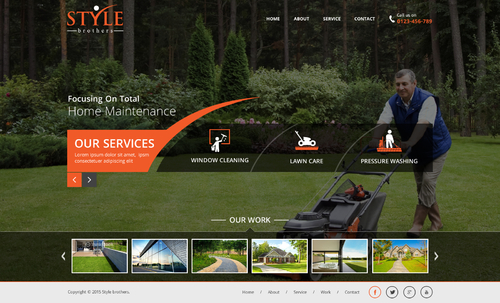 web design for a home maintenance company (mainly window cleaning, lawn care, pressure washing)