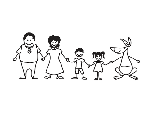 Happy Family Illustration Other  Draft # 13 by Mariposa