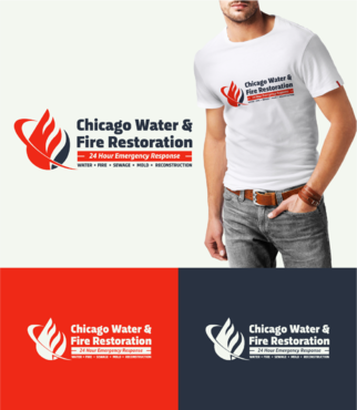 Chicago Water & Fire Restoration (two lines one on top of other separated at end of & symbol) A Logo, Monogram, or Icon  Draft # 238 by graphika