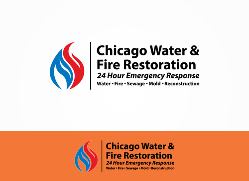 Chicago Water & Fire Restoration (two lines one on top of other separated at end of & symbol) A Logo, Monogram, or Icon  Draft # 255 by Sacril