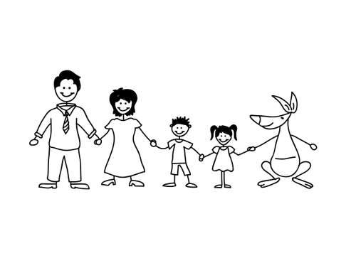 Happy Family Illustration Other  Draft # 23 by Mariposa