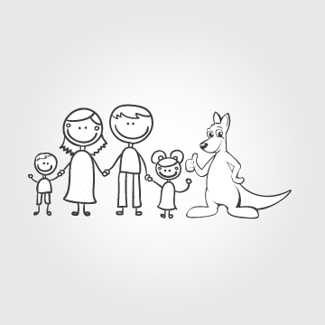 Happy Family Illustration Other  Draft # 24 by MycroDesigner001